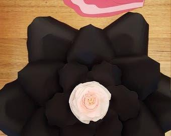 Paper Flower Templateand Base PDF files #14