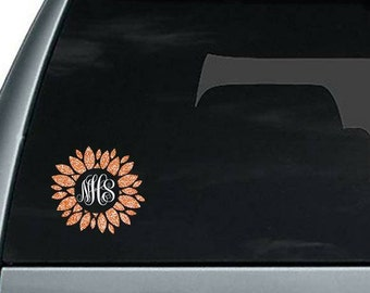 Initial Sticker Etsy - Monogram car decal sticker