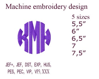 Circle Monogram Embroidery  Machine embroidery designs. Monogram Fonts For Embroidery Embroidery Monogram,  Embroidery Designs.  26 Letters