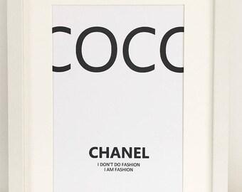 Coco Chanel A4 Print