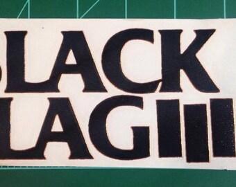 Decal STICKER Black Flag Logo