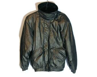 Retro leather jacket | Etsy
