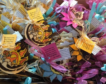 Wooden handmade favors soleluna and fully customizable Butterfly