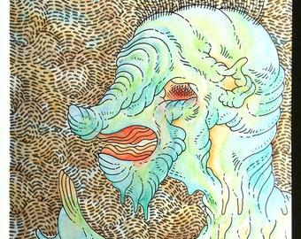 Untitled #89 - Original Mixed Media Watercolor Artwork