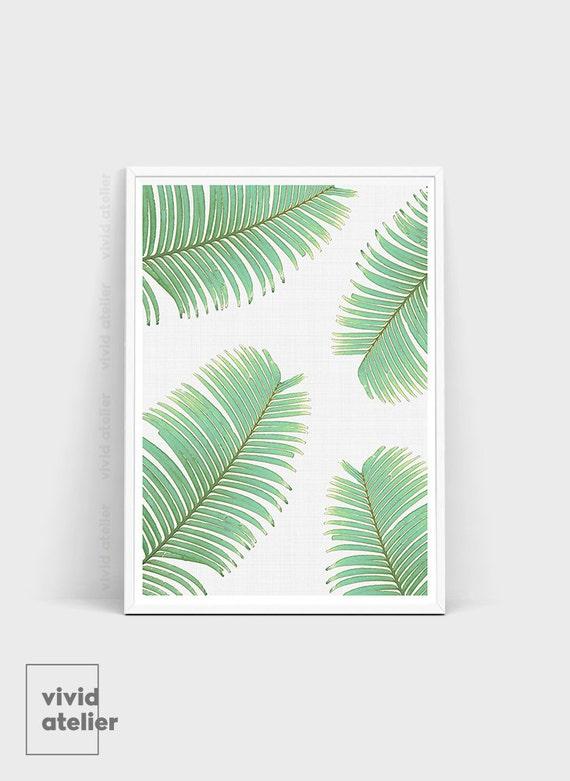Tropical Leaves Leaf Print Fern Print Printable By