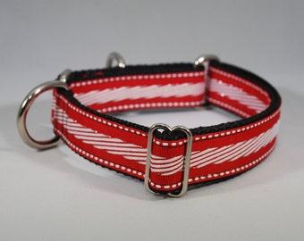 "Martingale ""Candy Cane"" Dog Collar"