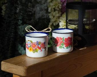 Vintage Enamel espresso cups