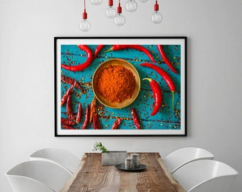kitchen print, Vegetables print, Kitchen decor, Pepper, Kitchen wall art, Food photography, Still life photo, gift for her, gift