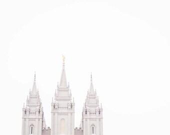 "Salt Lake Temple Print - ""White Space"""
