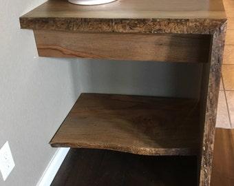 live edge vanity etsy. Black Bedroom Furniture Sets. Home Design Ideas