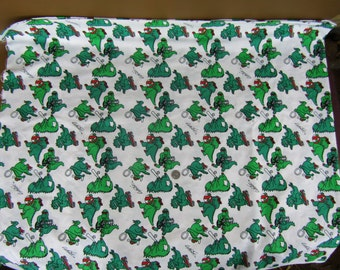 2 pieces 2 yards each playful green dinosaurs signed Calhoun