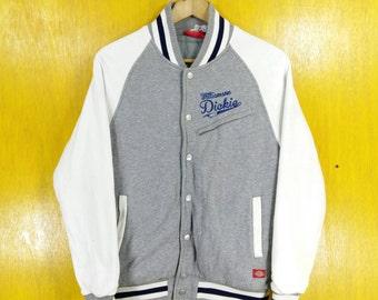 Vintage WILLIAMSON DICKIES Jacket Vintage 1990's Dickies Athletic Wear Sportswear Button Sweater Dickies Varsity Jacket Size S