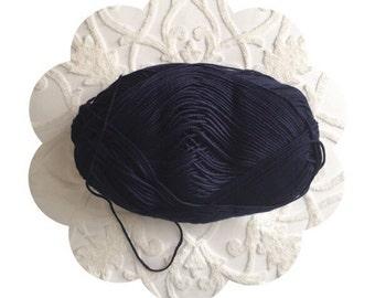 Luxurious navy yarn supply. Cotton bamboo blend navy yarn. Extra soft yarn. Navy yarn supply. Baby bamboo yarn in navy. Crochet/knit yarn.