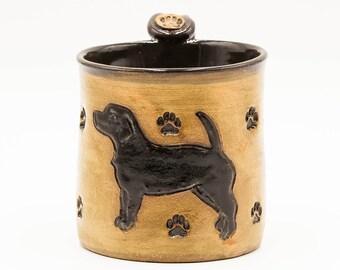 Black Lab Mug | Labrador Retriever Mug | Pottery | Ceramic | Stoneware | Pottery Mug | Ceramic Mug | Stoneware Mug | Handmade Pottery