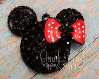 46mm Minnie Inspired Chunky Pendant