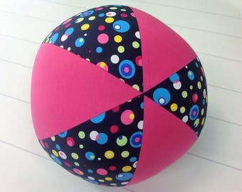 Balloon Ball Fabric,Balloon Ball Cover, Portable Ball, Travel Ball, Inflatable, Sensory, Special Needs, Coloured Bubbles, Pink, Eumundi Kids