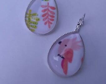 """Earrings """"parrot"""""""