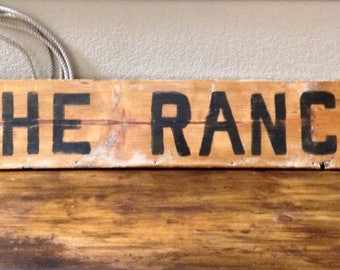 The Ranch Hand painted Wooden Sign