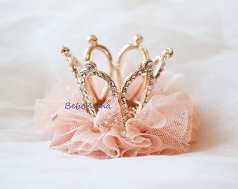 Crown hair clip, Baby crown hair clip, crystal crown, bridal shower, tiara hair clip, girls tiara, girls crown, baby crown,