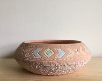 Vintage 90's blush clay bowl