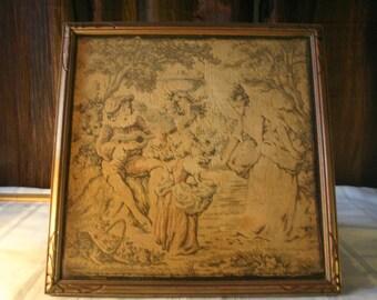 Framed Antique Tapestry
