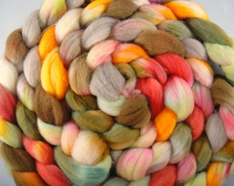 Rocky Mountain Autumn, on Merino Roving 4oz.
