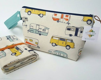 Diaper clutch, diaper changing pad, small diaper bag, travel changing pad, diapers and wipes case, nappy wallet, Daddy diaper bag, campers