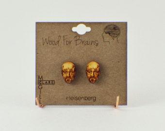 Walter White/Heisenberg/Breaking Bad - Laser Cut Wood Earrings