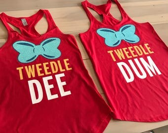 Tweedle Dee & Tweedle Dum Shirts / Womens Disney Tanks