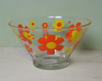 Vintage Glass Punch Bowl