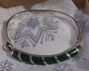 Sterling Malachite Bracelet