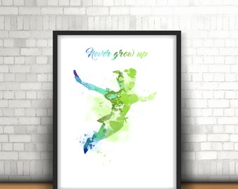 Art Print Of Peter Pan Disney Home Decor Collectable Item