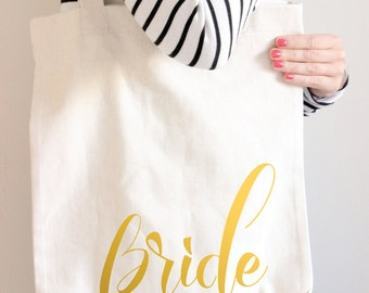 Gold Foil Tote Bags, Bride Bags, Bridal Bag, Wedding Tote Bag, Bridal Tote Bag, Bride Gift, Wedding Bag, Canvas Tote Bag, Bridal Party Gift