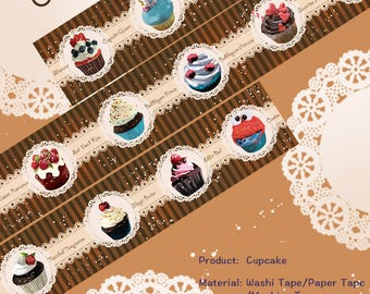 Food Cake Washi Tape cupcake,scrapbooking planner stickers,DiY,Paper Decorative masking Tape
