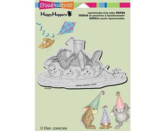 "Stampendous HappyHopper Cling Stamp 5.5""X4.5"" Inner Tube Nap"