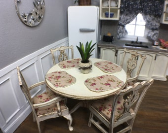 Shabby Chic Miniature Table and Chairs