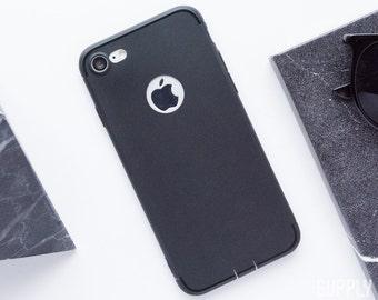 iPhone 7 Case - Satin Black - Minimalist iPhone Case, iPhone 7 Case, Slim iPhone Case, Business iPhone Case, Satin Black iPhone Case, Matte