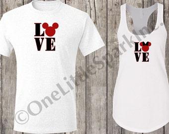 Disney valentine shirts / disney his and hers / disney couple / disney matching family / Love disney / Minnie and mickey