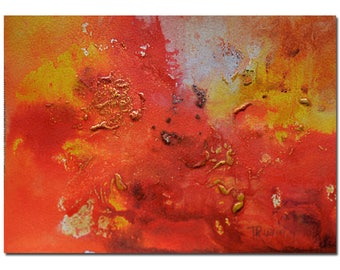 Original Painting of Fall,Abstract Art, Red, Colorful Modern Art Painting, Artwork,Abstract Painting,Acrylic Painting, Wife, Husband Gift