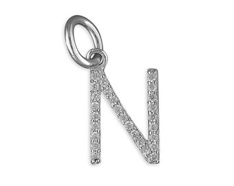 Sparkling Silver Initial Necklace