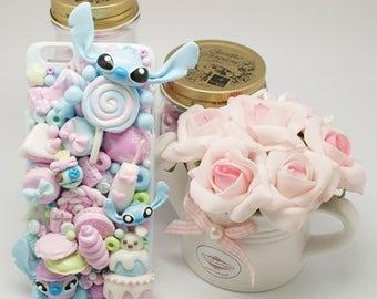 Kawaii decoden Stitch sweets phonecase