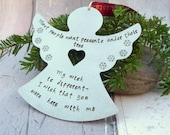 Angel Christmas Decoration Christmas Angel Lost Loved One Remembrance Xmas Decoration Angel Hanger Metal Bauble Xmas Angel UK Shop