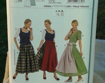 plus size dirndl dress 90s