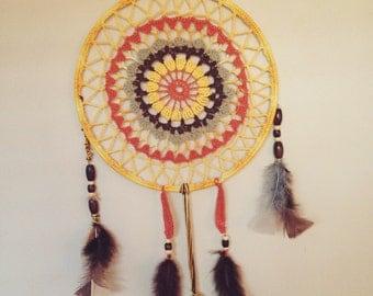 70s Crochet Dreamcatcher
