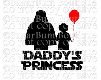 Daddy's Princess Star Wars svg png