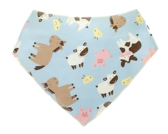 Baby Bandana Drool Bib - farm animals