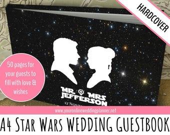 Wedding Guest Book, STAR WARS, Personalised, CUSTOM Guest Book