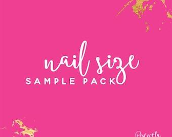 Nail size sample packs