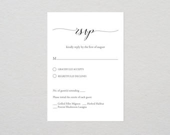 Rsvp card template etsy rsvp card template printable wedding response card editable text diy wedding calligraphy pronofoot35fo Images