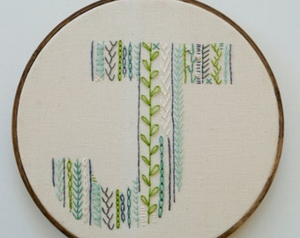 "Custom 8"" Letter Embroidery Hoop"
